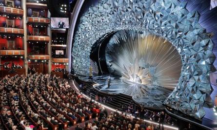 90th Academy Awards, host Jimmy Kimmel on stage.