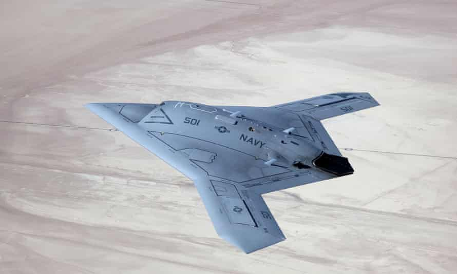 X-47B Stealth unmanned aircraft, Edwards Air Force Base, California.
