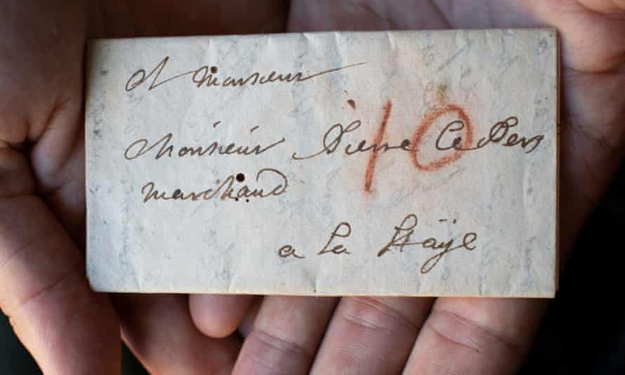An unopened letter from Jacques Sennacques to his cousin Pierre Le Pers, virtually unfolded and read for the first time.