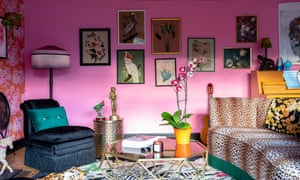'You can get away with strong colours because of the light': bright pink in the sitting room.