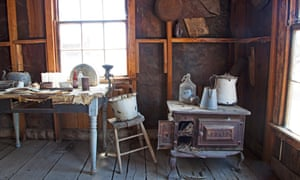 Relics inside dilapidated homes at Berlin ghost town at Berlin-Ichthyosaur State Park in central Nevada.