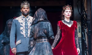 The childless couple? … Ray Fearon and Tara Fitzgerald in Macbeth.