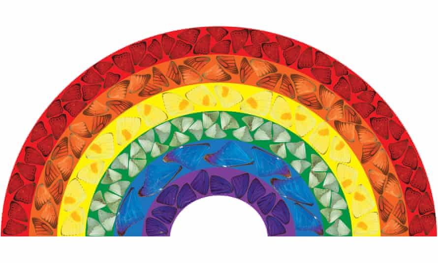 'A sign of hope' ... Damien Hirst's Butterfly Rainbow.