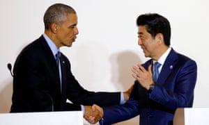 obama shinzo abe japan