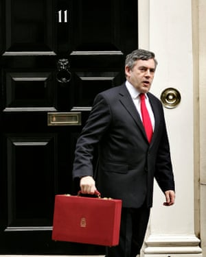 Former chancellor Gordon Brown outside No 11 Downing Street.