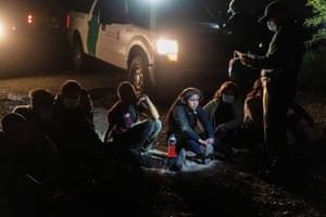 Roma, Texas: unaccompanied minors from Central America are processed by the U.S. Border Patrol