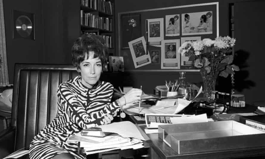 Helen Gurley Brown in her office at Cosmopolitan magazine, 1960s.
