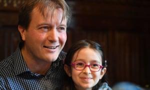 Reunited: Richard Ratcliffe and daughter Gabriella last week
