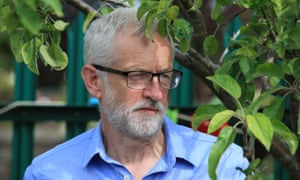 Jeremy Corbyn in a community garden