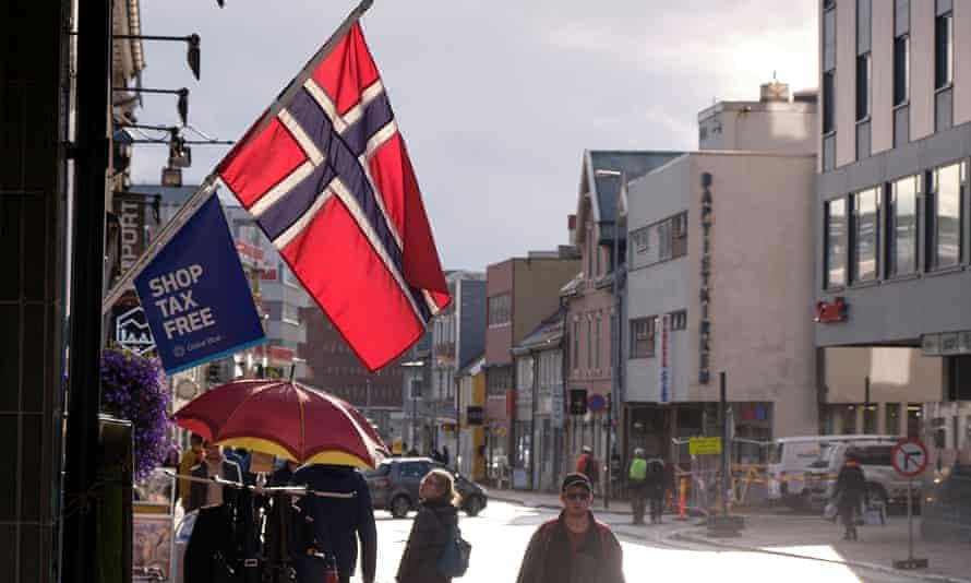 Norwegian flag in Tromsø