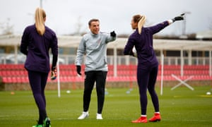 Phil Neville and players training