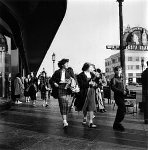 Fairfax Avenue – 600 Block, Los Angeles, 1950