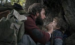 John Krasinski and Noah Jupe in A Quiet Place.
