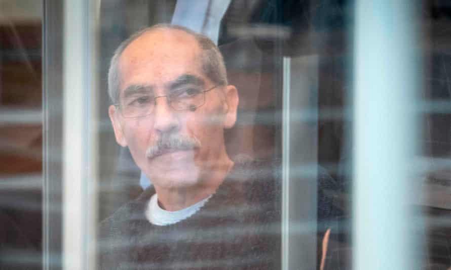Anwar Raslan arriving at court in Germany.