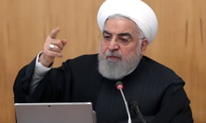 President Hassan Rouhani at a cabinet meeting in Tehran on Wednesday