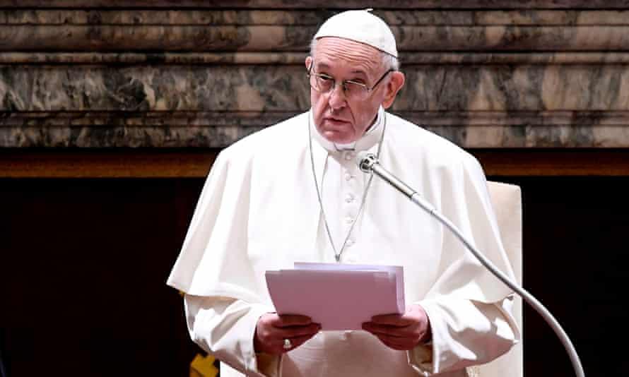 Pope Francis addresses the Vatican bureaucracy