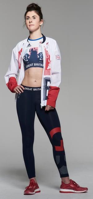Olivia Breen models the Team GB kit for Rio 2016.