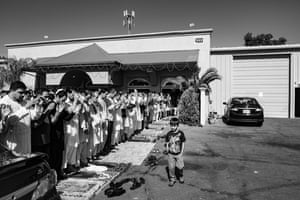 USA, July 2016 Afghans gather to pray