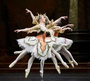 Dancers from the Birmingham Royal Ballet perform Sleeping Beauty at at the Mayflower Theatre, Southampton, 30 January 2018