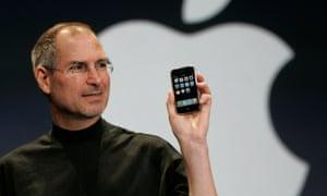Steve Jobs first iPhone