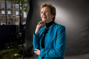 First woman President of Ireland and former UN High Commissioner for Human Rights Mary Robinson.