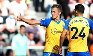 Southampton's James Ward-Prowse celebrates scoring their second goal.