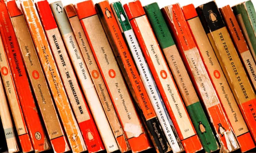 Row of paperbacks