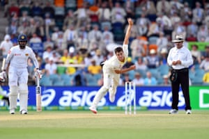 Pat Cummins reasserted Australia's ascendancy over Sri Lanka late on day two of the second Test in Canberra.
