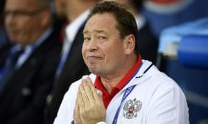 The coach Leonid Slutsky seeks divine inspiration.