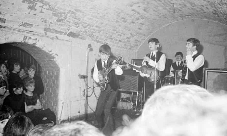 The band rocking at The Cavern Club.