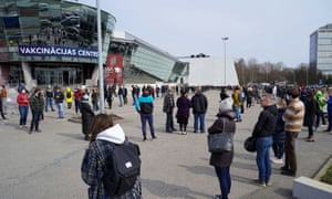 Hundreds queue up as Latvia opens up walk in COVID-19 vaccination scheme