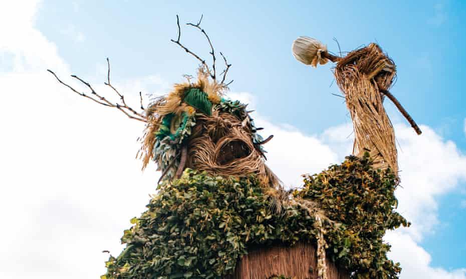 The Green Man sculpture at Green Man music festival.