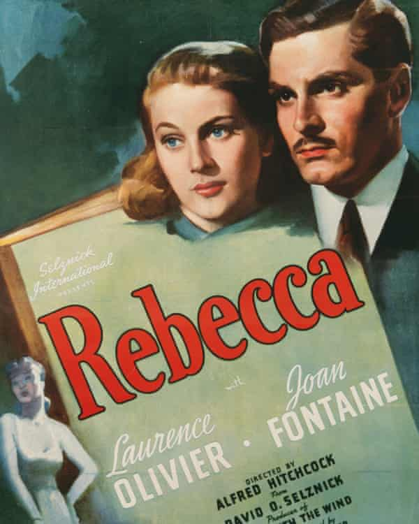 Crime and high camp … the poster for Alfred Hitchcock's 1940 film adaptation of Du Maurier's thriller.