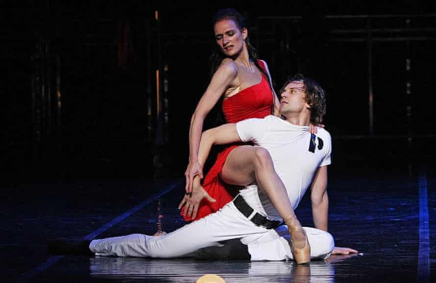 Dressed 'like no Muslim refugee ever': St Petersburg Ballet's Irina Kolesnikova as Carmen, with Dmitry Akulinin as José, in Her Name Was Carmen at the Coliseum.