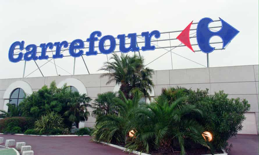 Carrefour supermarket in Toulouse, southwestern France