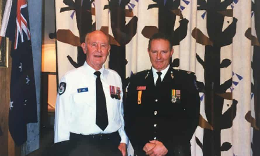 Greg Mullins in 2001, when he was Fire and Rescue NSW director of state operations, with his father Jack