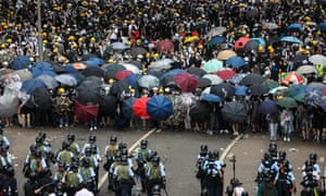 Protesters face off against police in Hong Kong