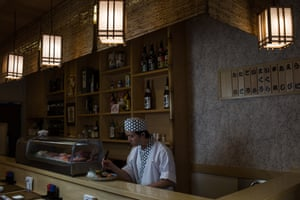 One of Okuno's sushi chefs is Marcos Okabe, 36, whose grandparents came to Brazil from Japan in the early 20th century. With the immigration rate showing no sign of dropping, São Paulo could have a population of more than 23 million by 2030 – double its current size