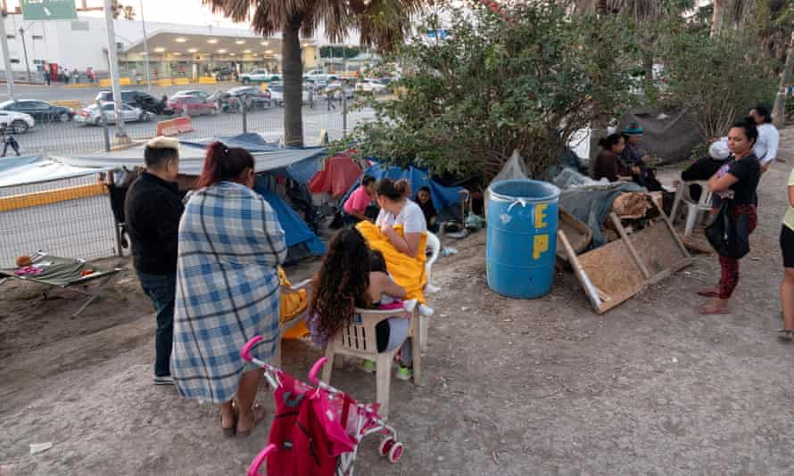 A refugee camp in Matamoros, Tamaulipas, Mexico.