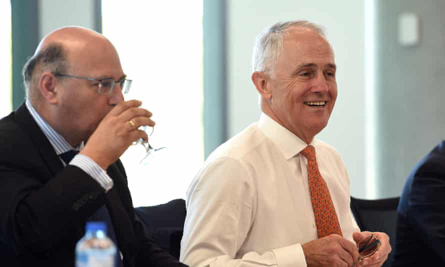 Senator Arthur Sinodinos, and Australian Prime Minister Malcolm Turnbull