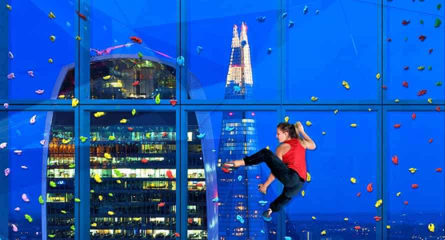 Get a grip … the climbing window on the 25th floor of 22 Bishopsgate.