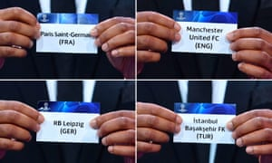 champions league draw manchester united face tough group as it happened football the guardian champions league draw manchester