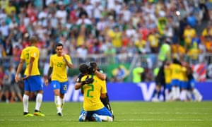 And down at the other end of the pitch Alisson and Thiago Silva celebrate Frimino's goal.