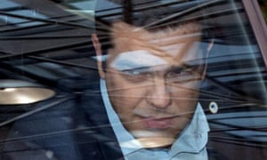 Greek prime minister Alexis Tsipras arrives at the eurozone leaders summit in Brussels, 12 July