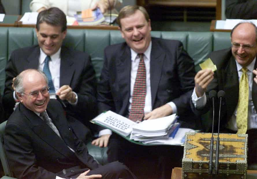 John Howard, John Anderson, Peter Costello and Peter Reith. The Howard government marked a low-point for union