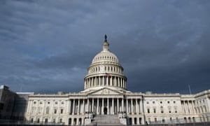 """FILES-US-POLITICS-CONGRESS-TRUMP<br>(FILES) In this file photo taken on October 7, 2019 the US Capitol is seen in Washington, DC. - Donald Trump on October 9, 2019 called for outing the whistleblower behind the impeachment inquiry threatening his presidency and sought to transform the entire scandal into a boost for his 2020 reelection campaign.Trump began his attempt to crush impeachment on Tuesday with a breathtaking show of defiance to Congress.In an eight-page letter signed by the White House counsel, the administration bluntly announced it would not cooperate with the Democratic-led House of Representatives, calling its impeachment push illegitimate.Democrats responded by accusing Trump of stonewalling and obstruction.""""No one is above the law, not even President Trump,"""" the Democratic majority leader in the House, Steny Hoyer, said Wednesday. (Photo by SAUL LOEB / AFP) (Photo by SAUL LOEB/AFP via Getty Images)"""