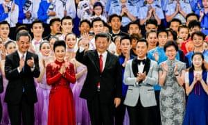 Xi Jinping at 20th anniversary celebrations of Hong Kong's handover, June 2017