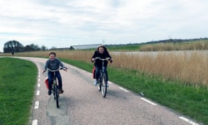 William and Rose cycling in the Netherlands