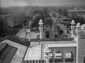 The British Empire Exhibition from the top of one of the turrets of the India pavilion, 1925
