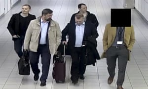 Four Russian GRU arrive in the Netherlands.